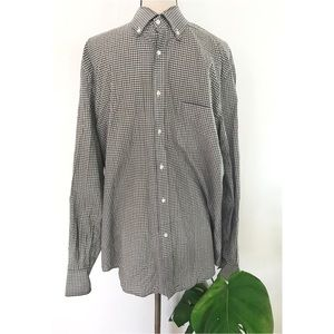 BRUNELLO CUCINELLI Windowpane Checked Sport Shirt